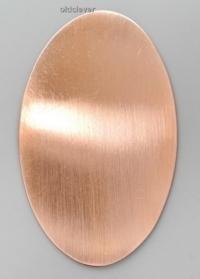 Пластина эллипс большой,медь P005m