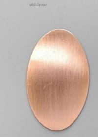Пластина эллипс средний медь P006m
