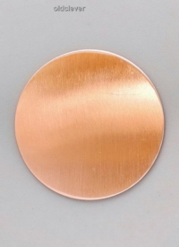 Пластина круглая,медь P008m