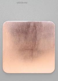 Пластина квадратная,медь P009m
