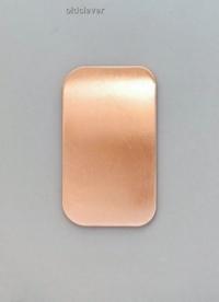 Пластина прямоугольная малая,медь P010m