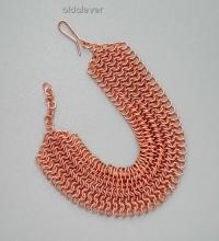 Медный браслет,плетение Кольчуга MB051