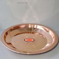 Медная тарелка, 25 см МИ001