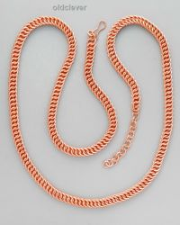 Медная цепь,плетение Перс MГ001-1