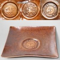 Тарелка сувенирная медная квадратная МD016
