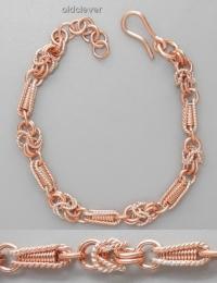 Медный плетеный браслет Барокко MB074