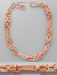 Медный плетеный браслет Лисий хвост MB075